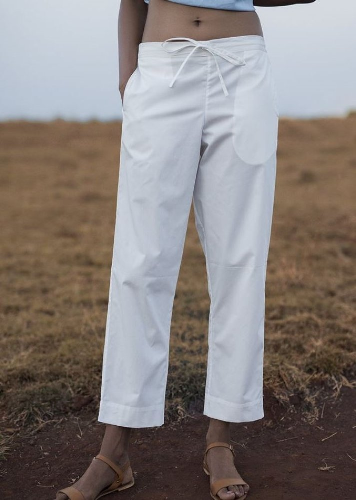 Casual White Pants - Ethical made fashion - onlyethikal