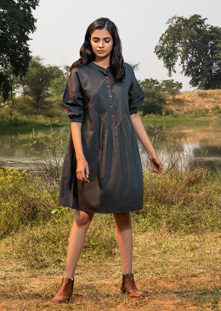 Checkered dress - Ethical made fashion - onlyethikal