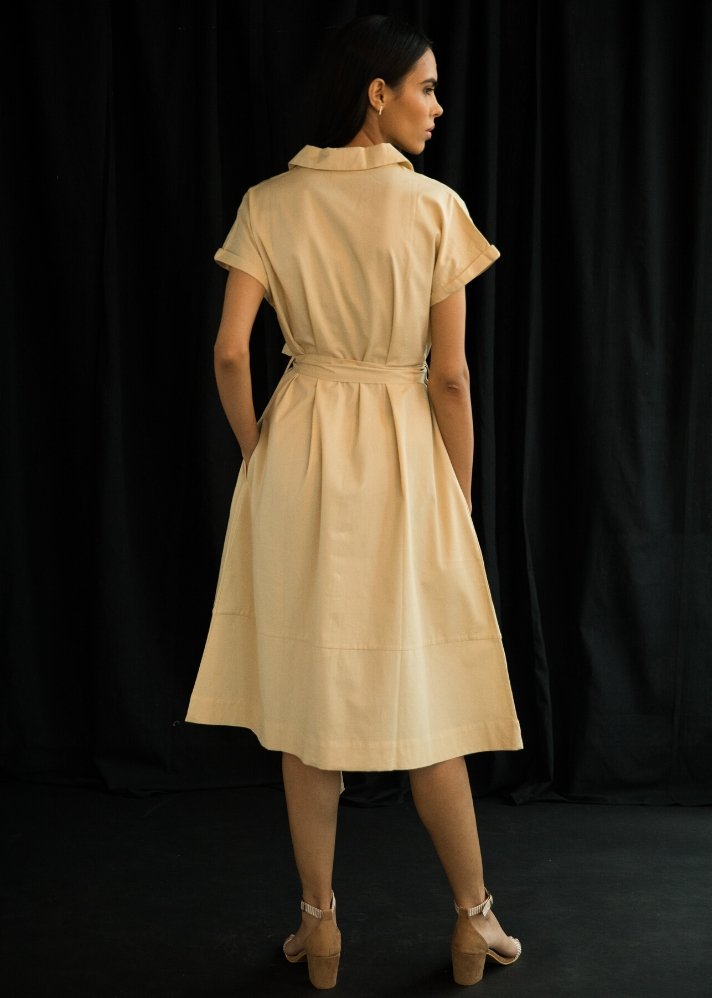 Collar Dress - Ethical made fashion - onlyethikal