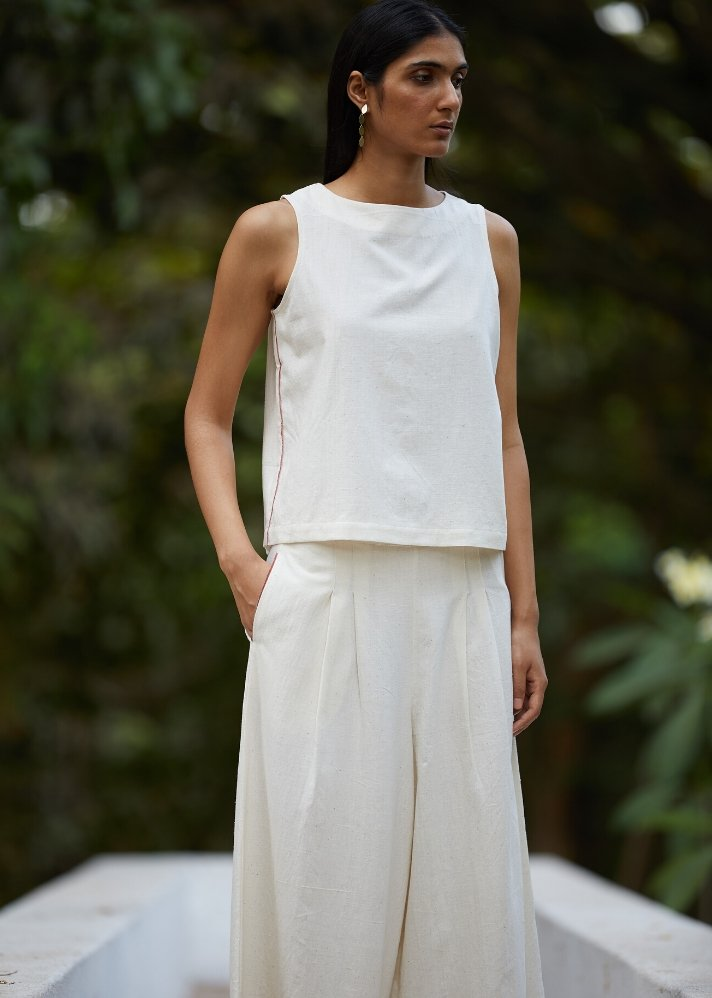Cotton Flare Pants and Top Set - Ethical made fashion - onlyethikal