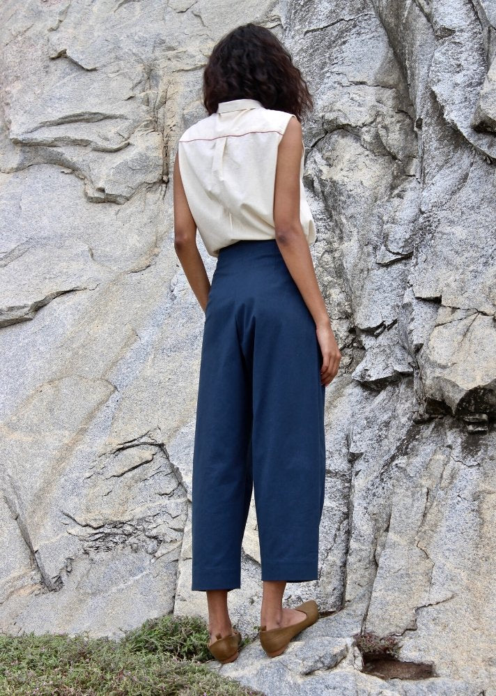Cotton tailored pants - Ethical made fashion - onlyethikal