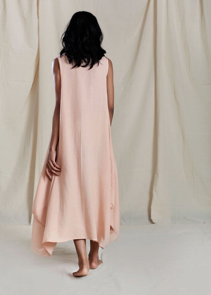 Cowl Dress - Peach - Ethical made fashion - onlyethikal
