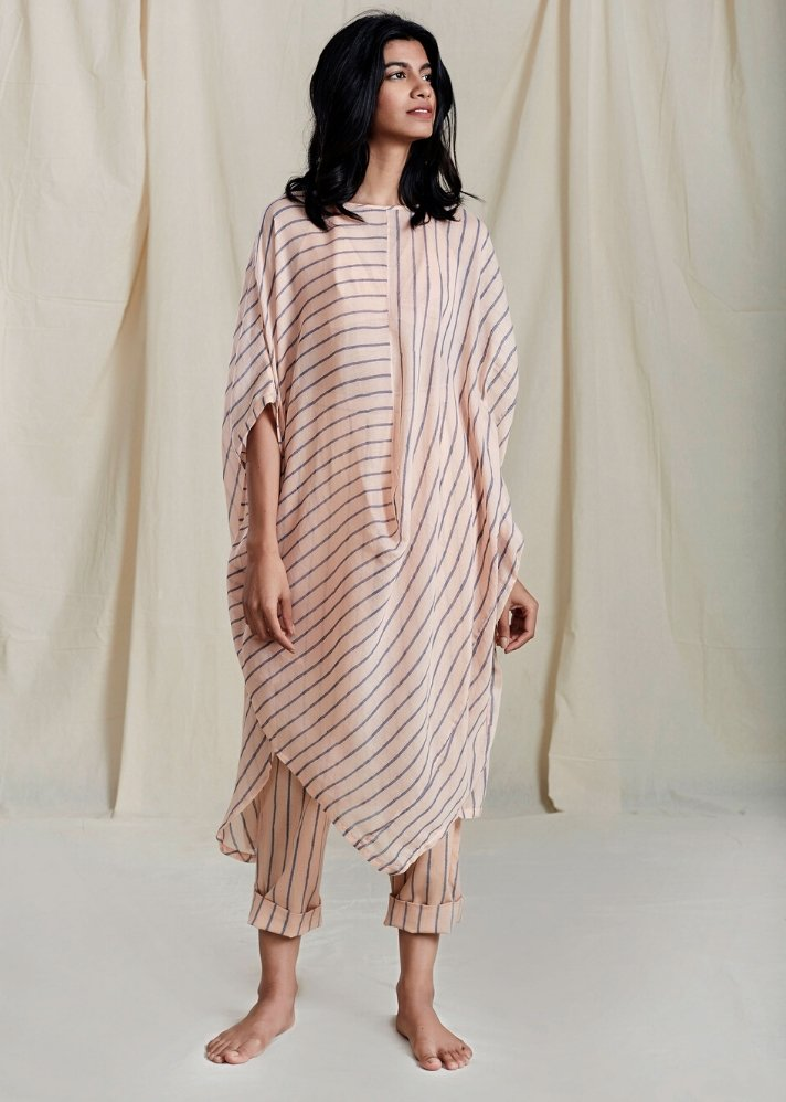 Cowl Tunic Set - Pink - Ethical made fashion - onlyethikal