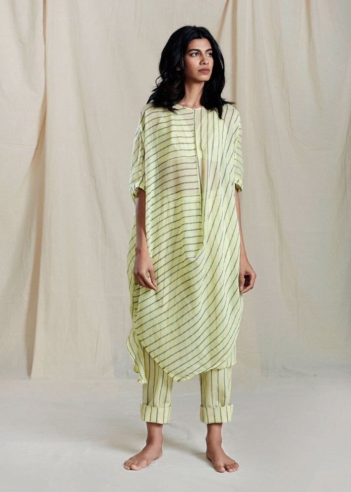 Cowl Tunic Set - Yellow - Ethical made fashion - onlyethikal