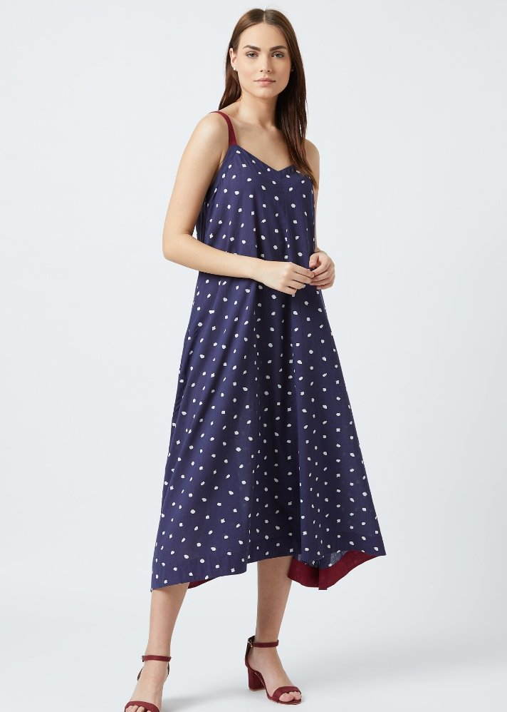Ready to ship! Dotted slip dress - Ethical made fashion - onlyethikal