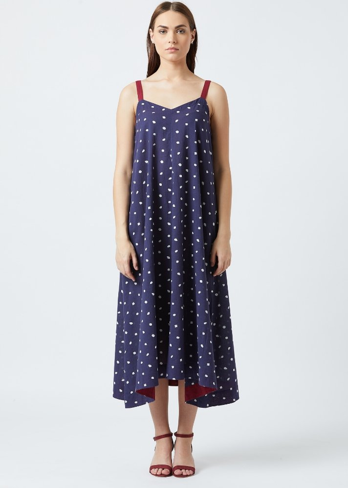 Dotted slip dress - Ethical made fashion - onlyethikal