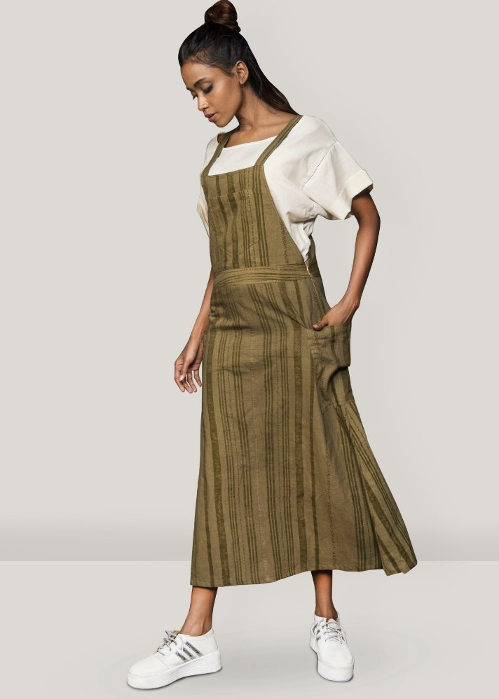 Dungaree dress with pockets and top - Ethical made fashion - onlyethikal