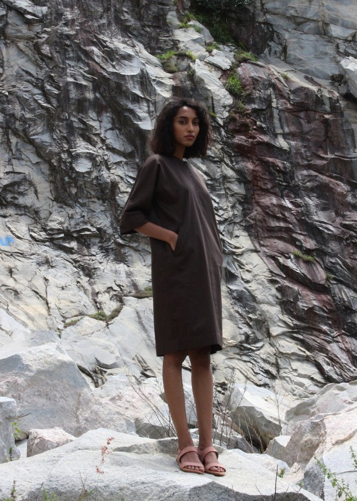 Elegant Column dress - Ethical made fashion - onlyethikal