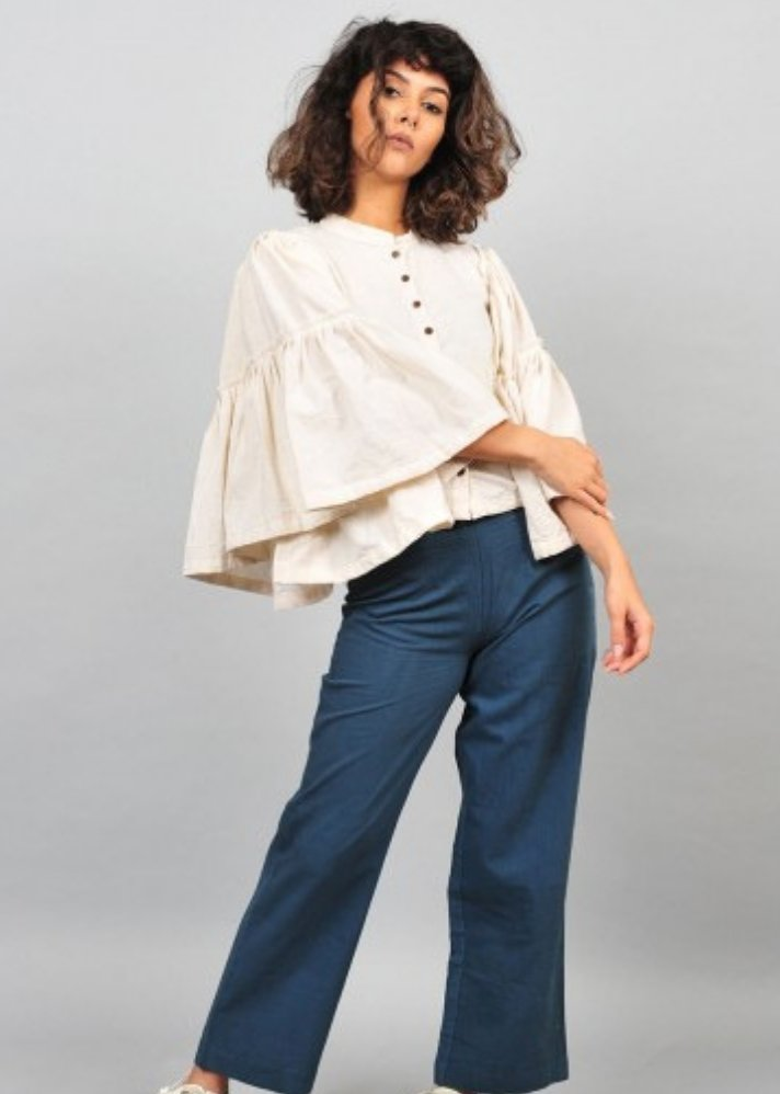 Flare sleeves top - Ethical made fashion - onlyethikal