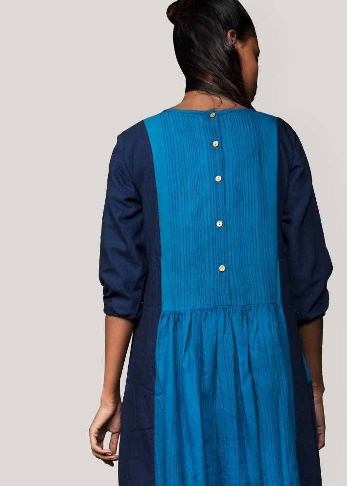 Front pleated dress - Ethical made fashion - onlyethikal
