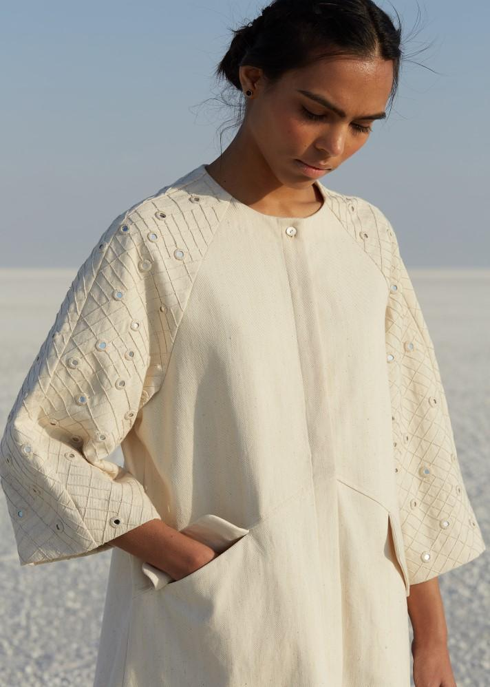 Handwoven Dress with raglan sleeves - Ethical made fashion - onlyethikal