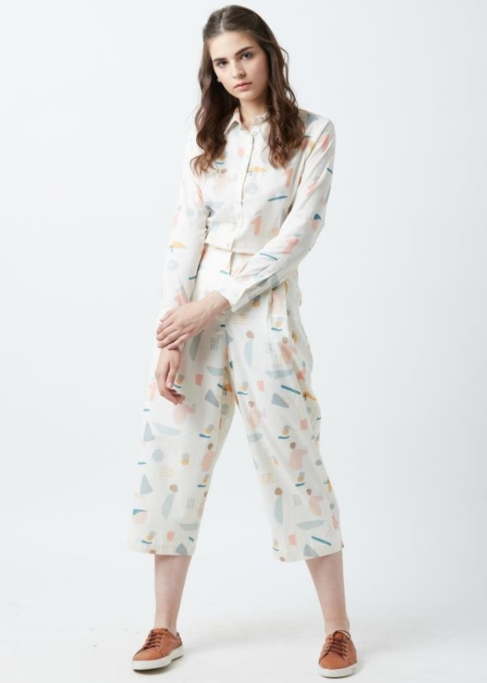 Human print pant and shirt set - Ethical made fashion - onlyethikal