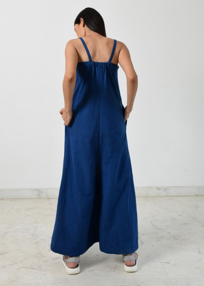 Ready to ship! of Indigo strappy jumpsuit - Ethical made fashion - onlyethikal
