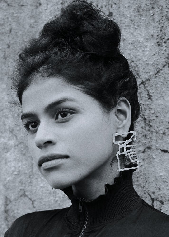 Inguru earing - Silver plating - Ethical made fashion - onlyethikal
