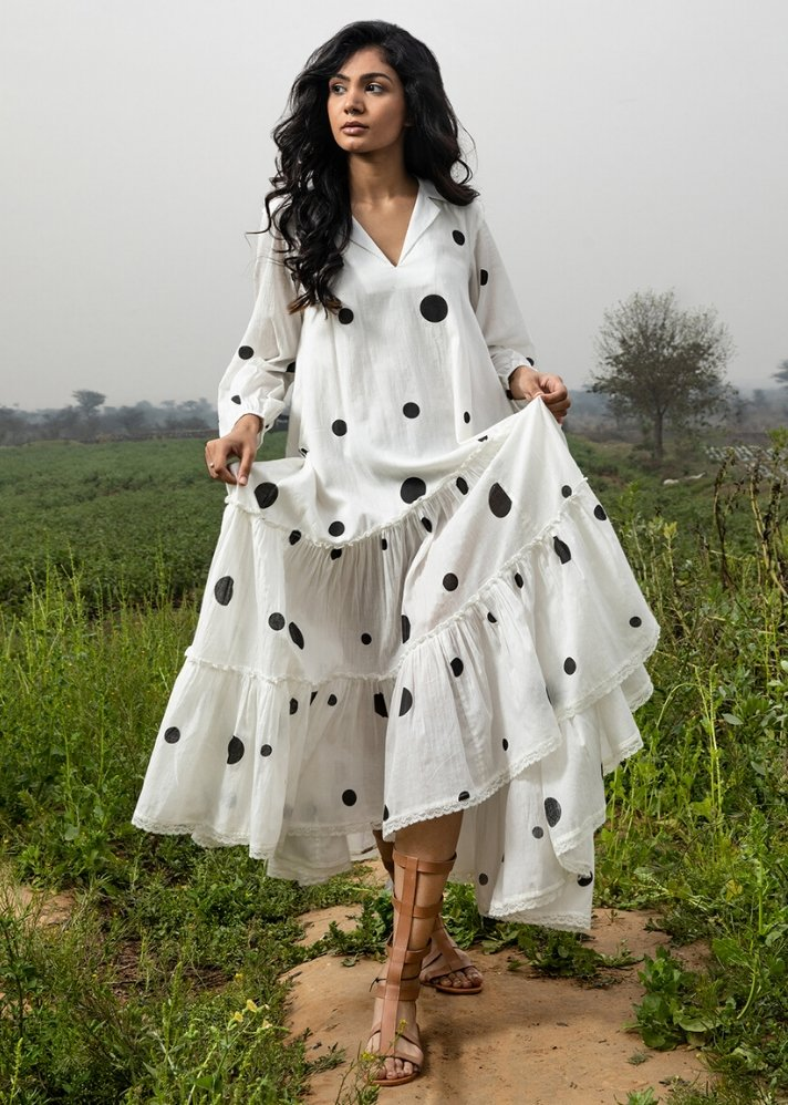 Ivory maxi dress - Ethical made fashion - onlyethikal