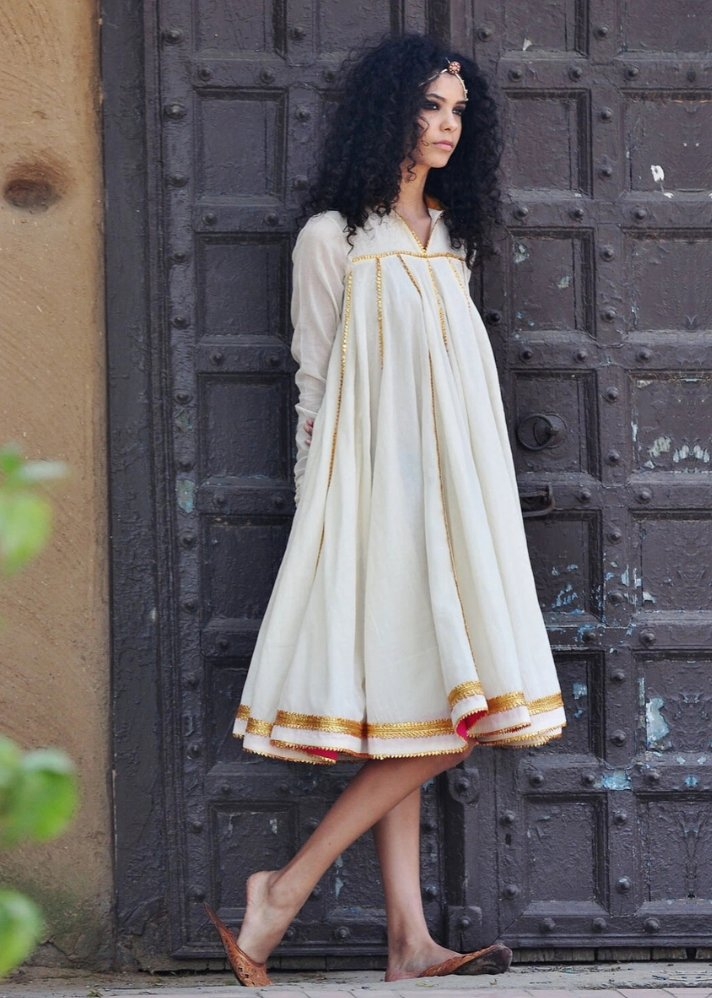 Ivory Ornamental dress - onlyethikal