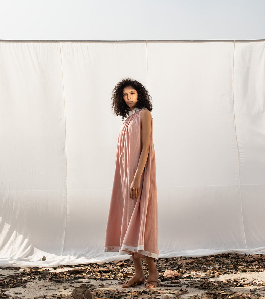 In the Pink Tent Dress - Ethical made fashion - onlyethikal