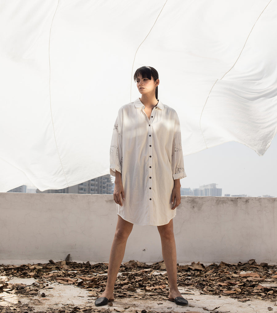 Aurora White Shirt Dress