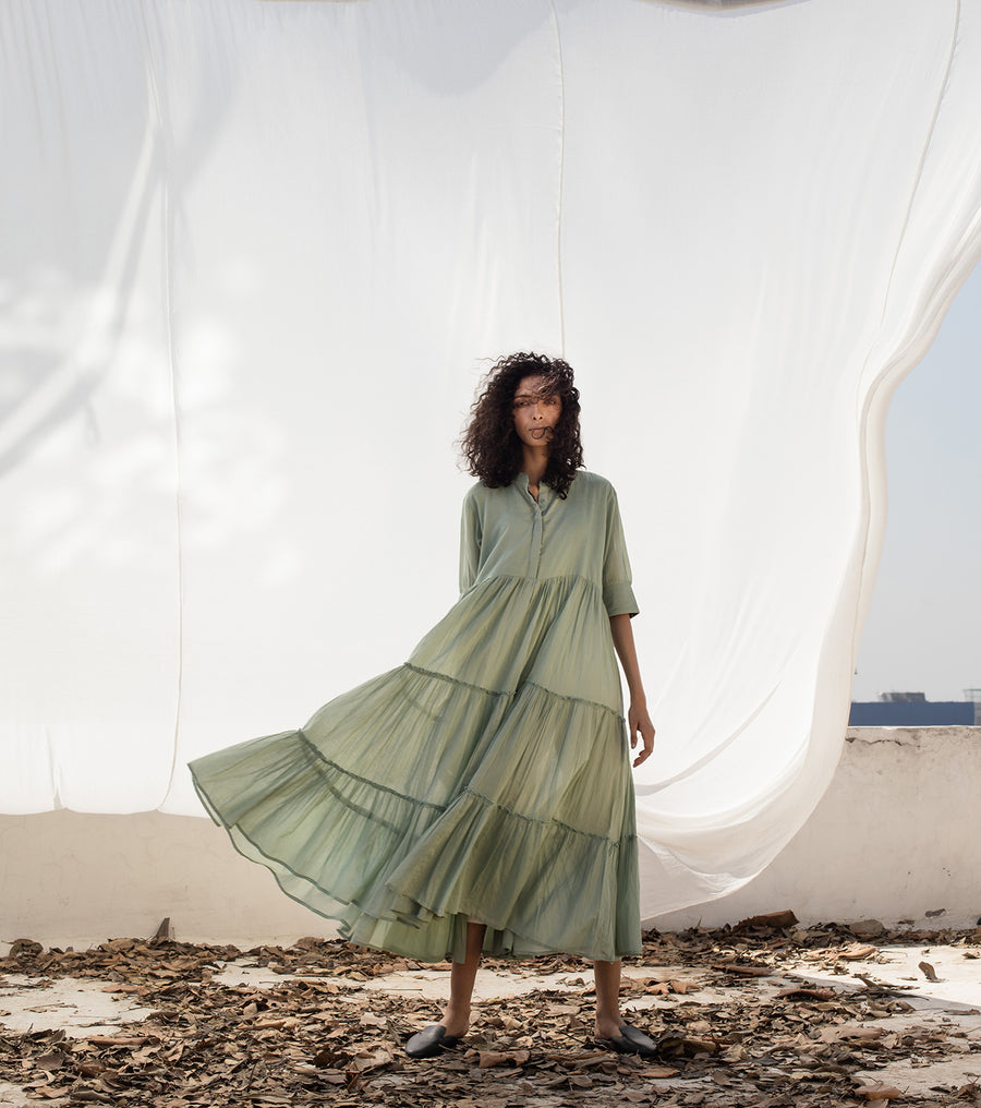 Wind in the city midi dress - Ethical made fashion - onlyethikal