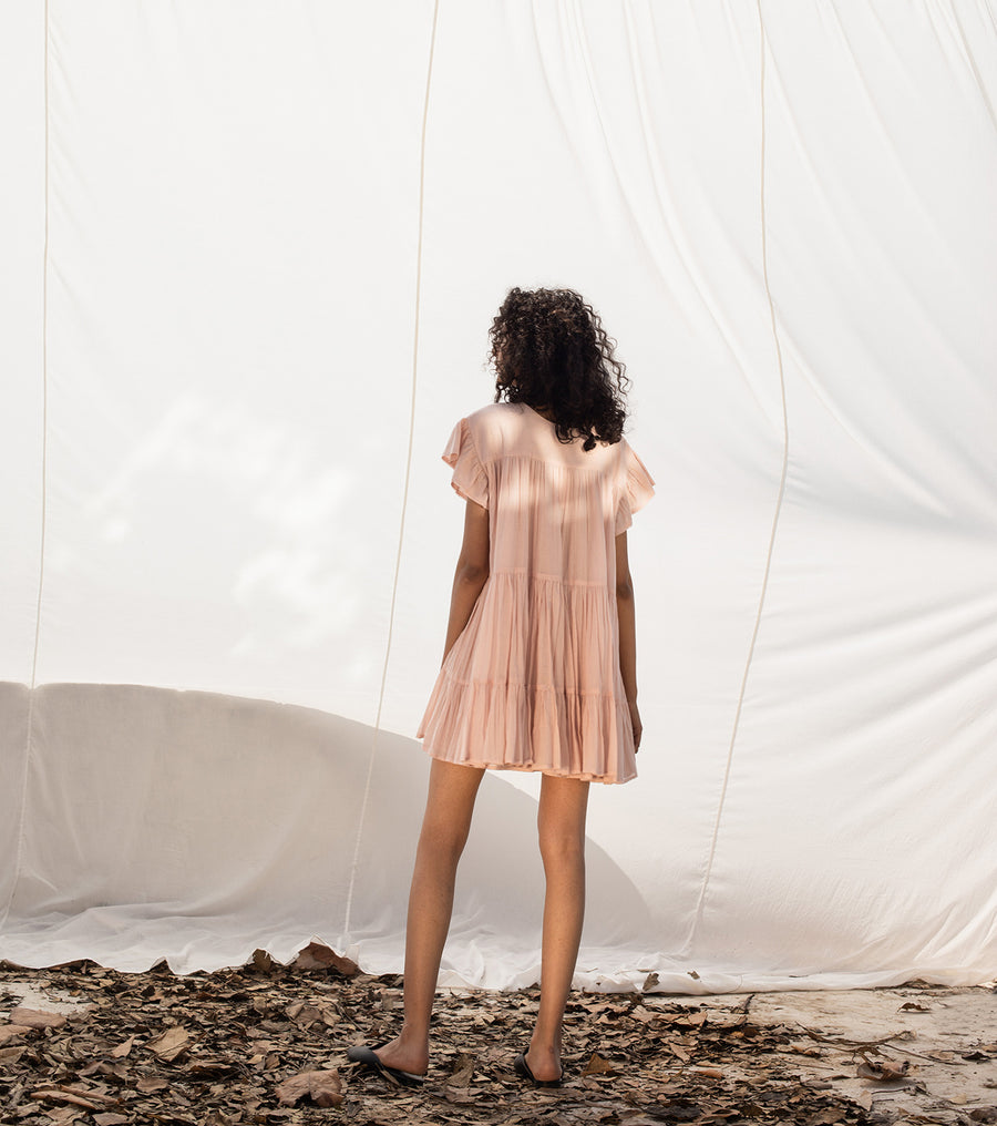 Tickled Pink Frock Dress - Ethical made fashion - onlyethikal