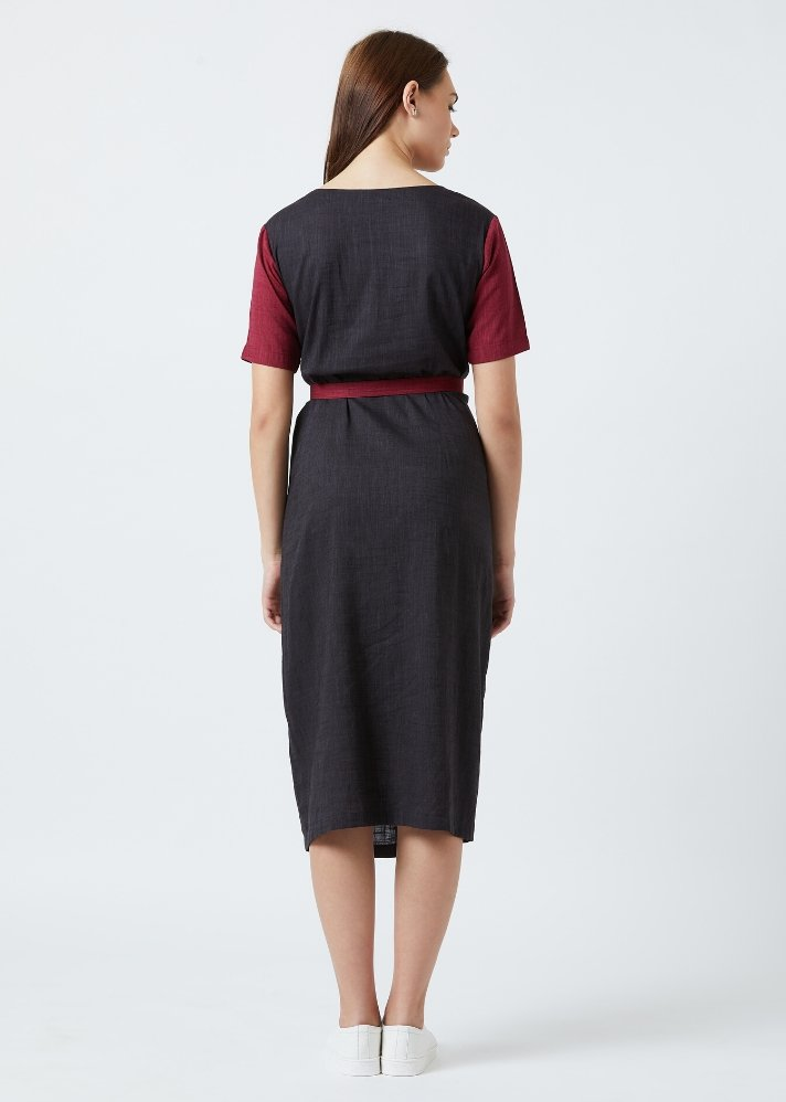 Knotted dress - Black - Ethical made fashion - onlyethikal