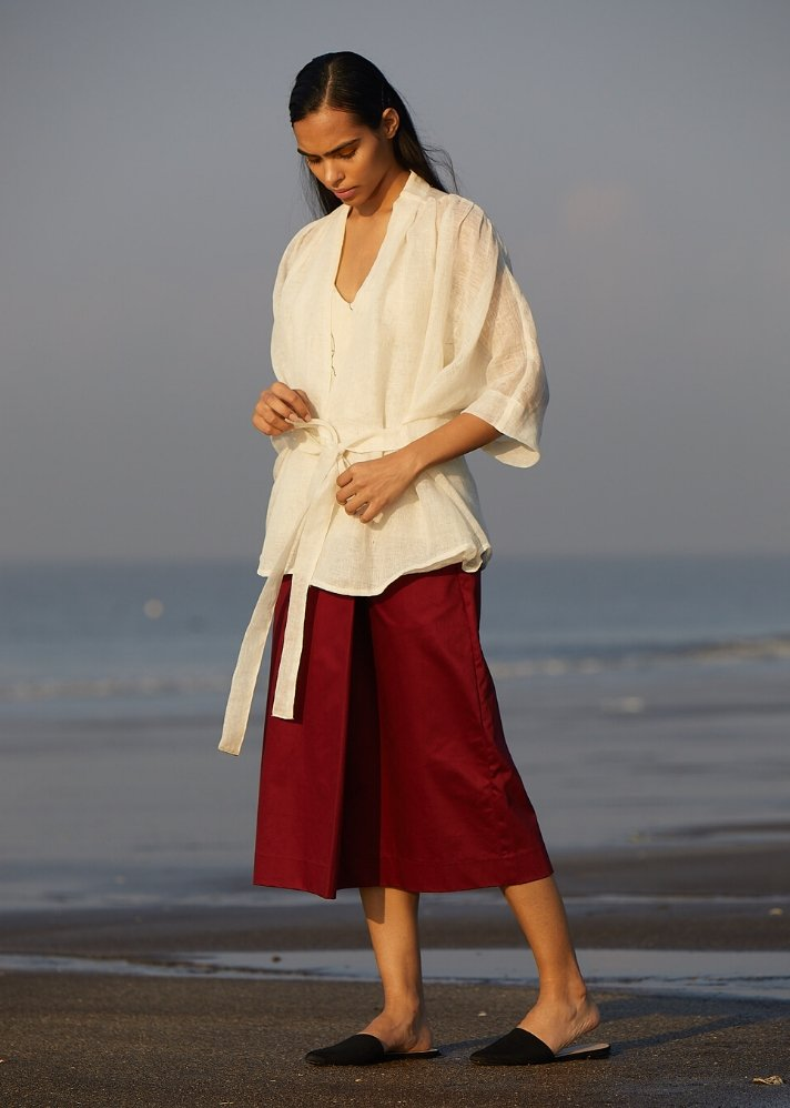 Linen Overlay - Ethical made fashion - onlyethikal