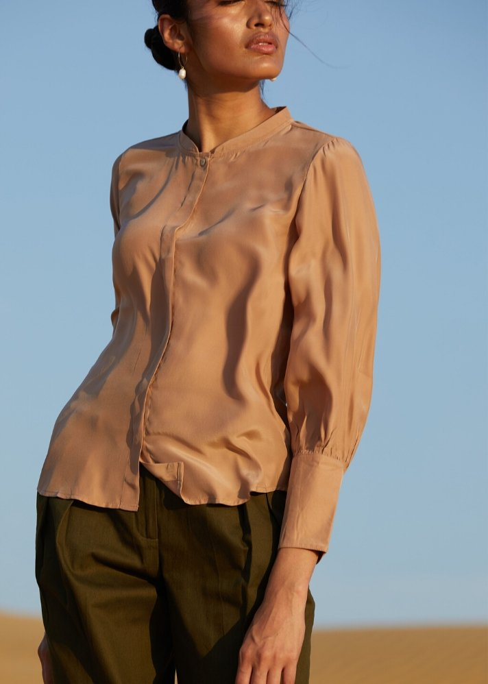 Aasena Luxury Pure Silk Shirt - Ethical made fashion - onlyethikal