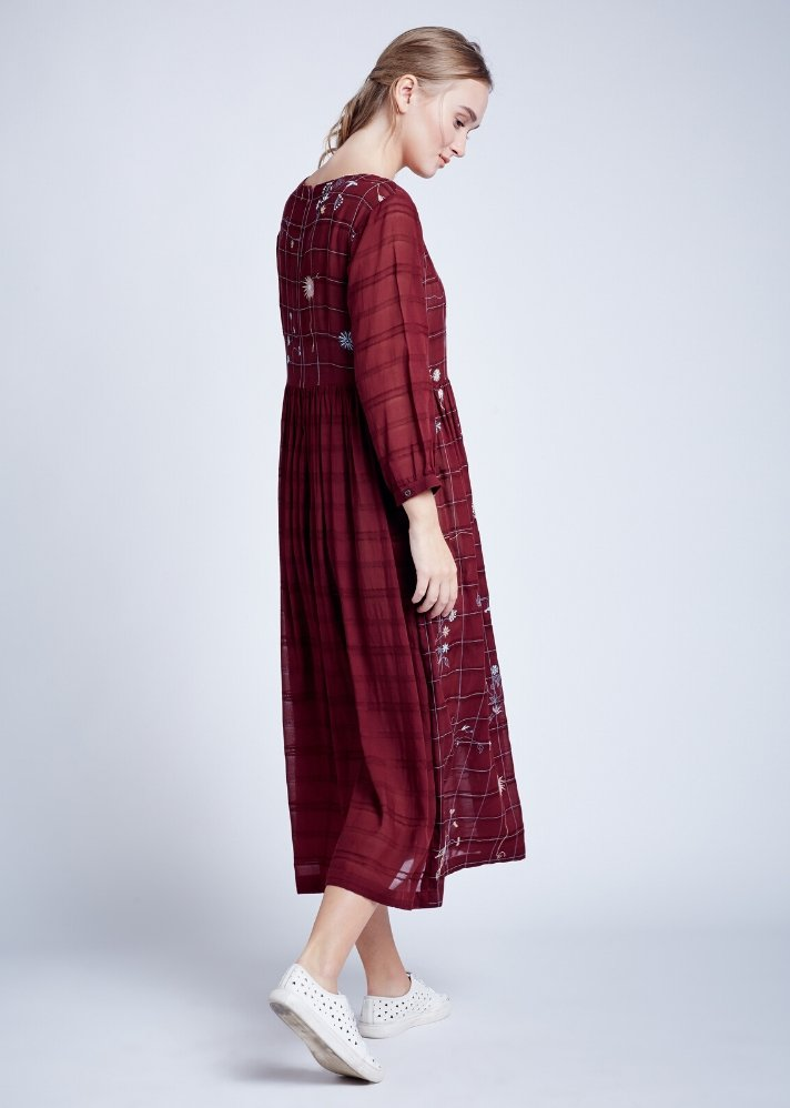 Marsala Dress - Ethical made fashion - onlyethikal