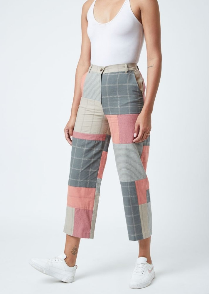 Multicolored patch pants - Ethical made fashion - onlyethikal