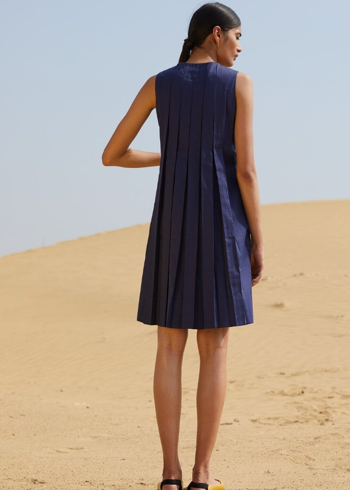 Origami pleated dress in Organic Cotton - Ethical made fashion - onlyethikal