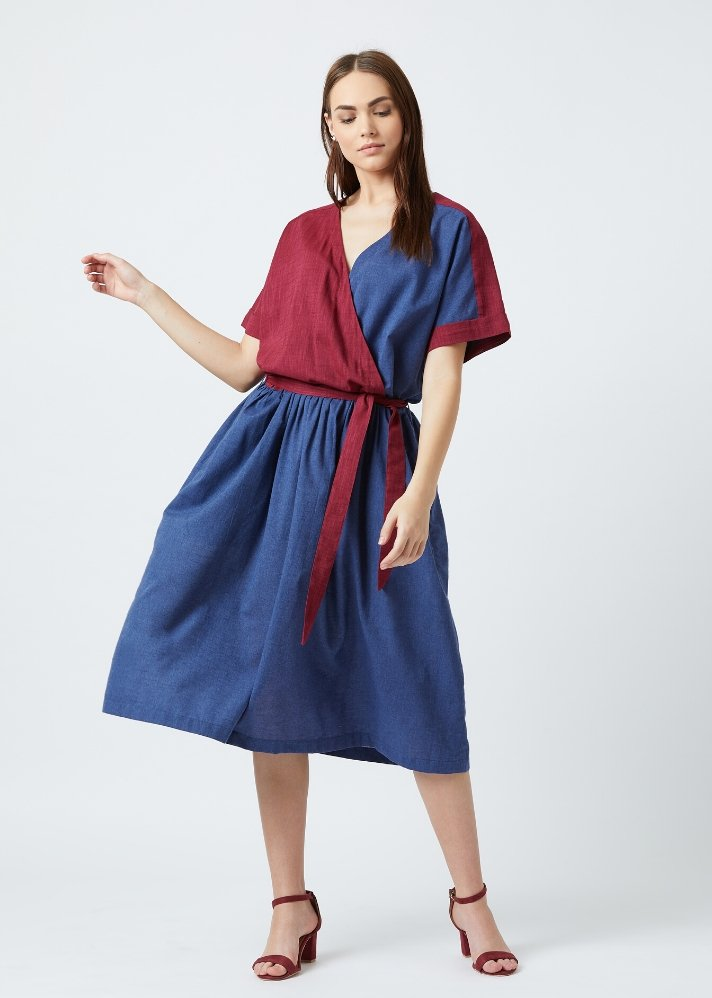 Overlap dress - Ethical made fashion - onlyethikal