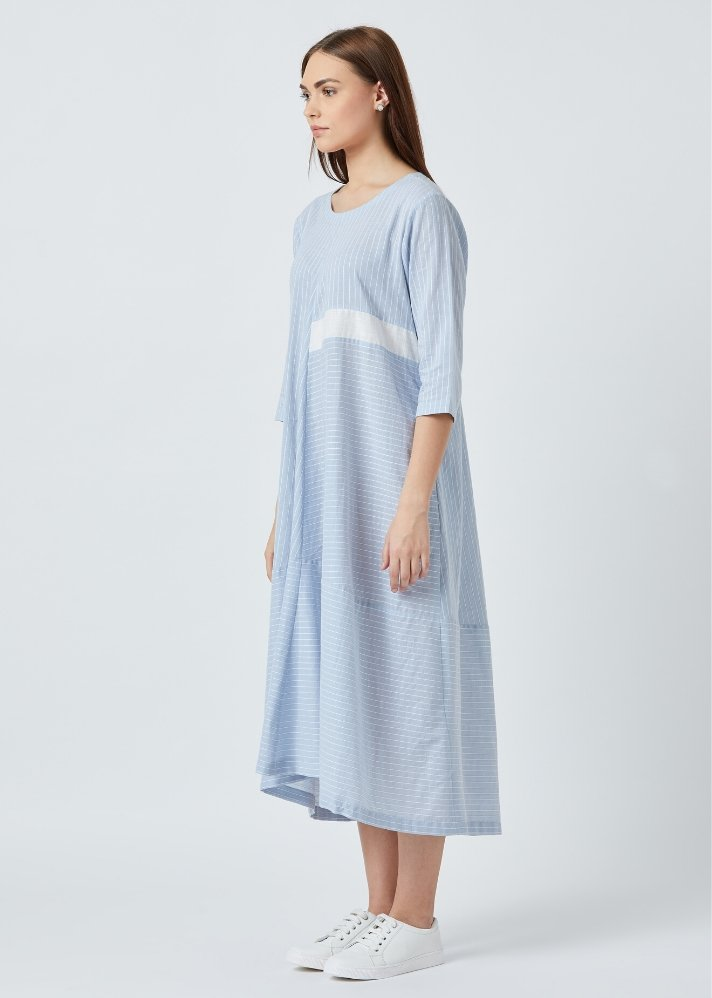 Paneled fit flare dress - Ethical made fashion - onlyethikal