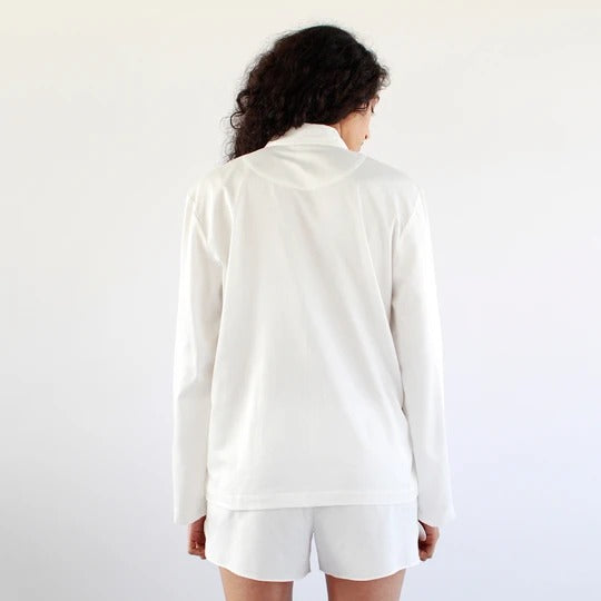 White Play Suit- Blanc - Ethical made fashion - onlyethikal