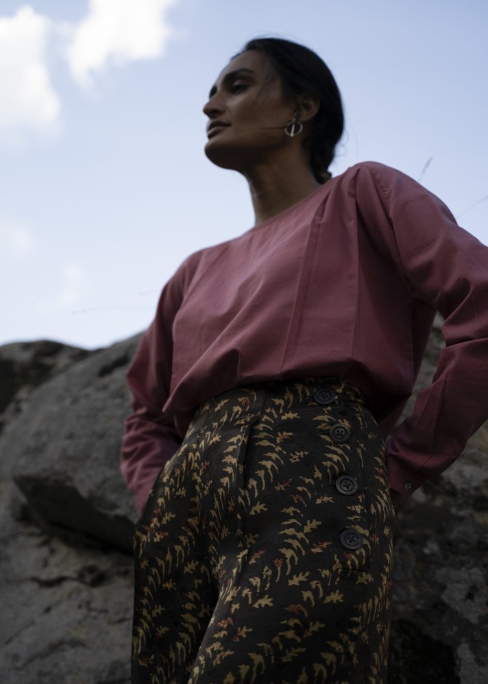 Printed Mashru pants - Ethical made fashion - onlyethikal