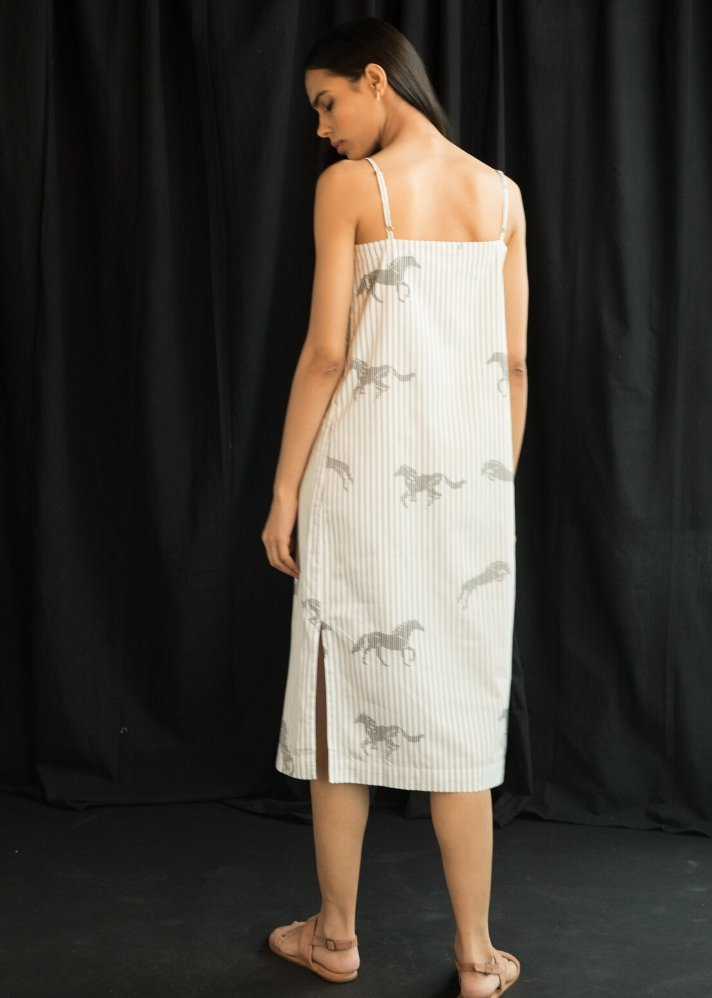 Printed Straight fit dress - Ethical made fashion - onlyethikal