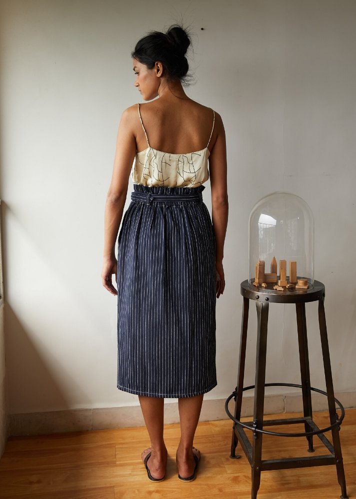 Recycled Denim mid weight skirt - onlyethikal