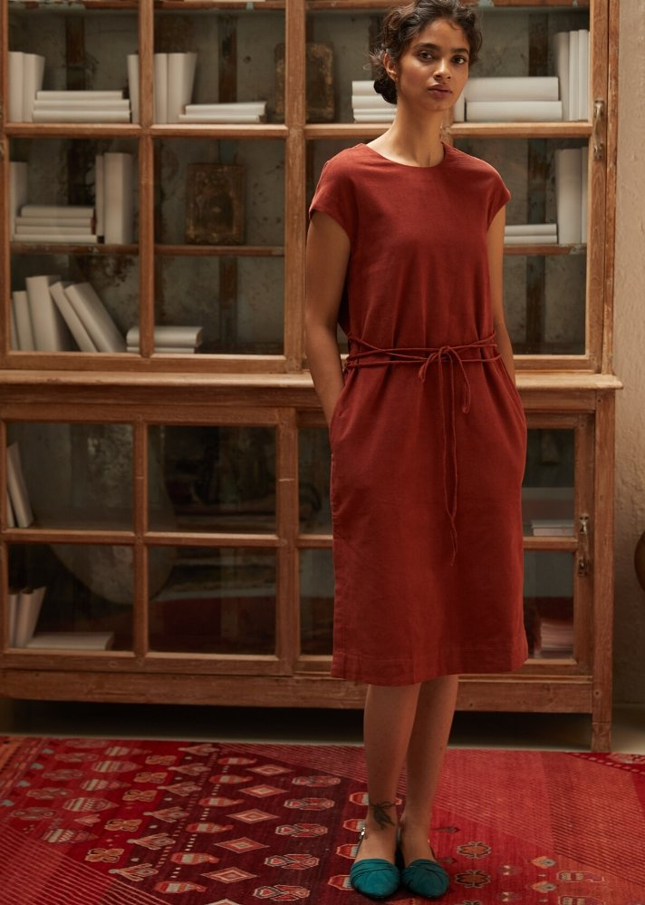 Rich Organic corduroy dress - Ethical made fashion - onlyethikal