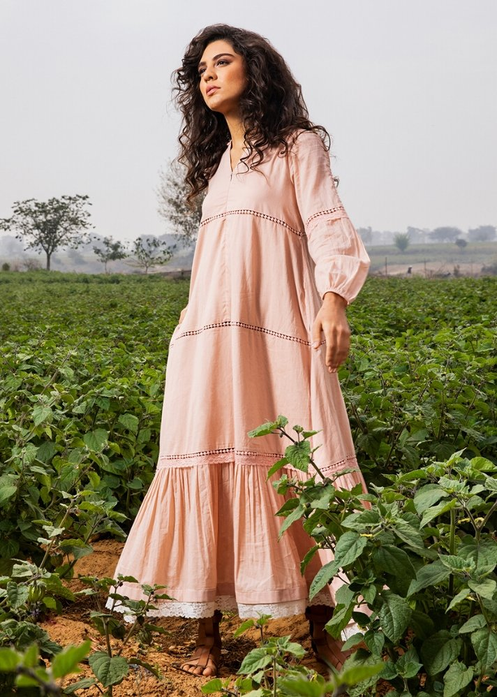 Rose Mulmul maxi dress - onlyethikal