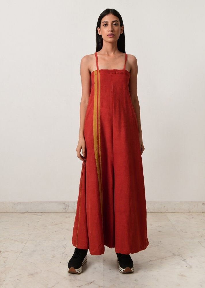 Rust strappy jumpsuit - onlyethikal