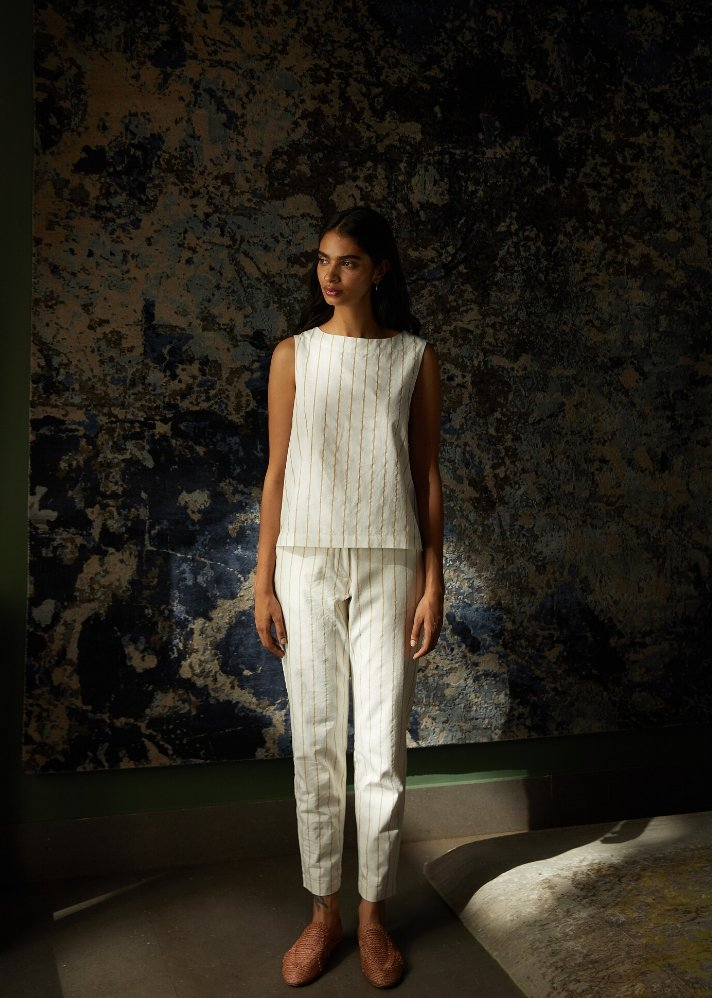 Set of khadi top and pant - Ethical made fashion - onlyethikal