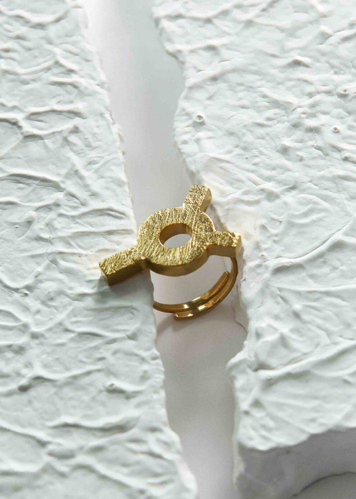 Seul ring - Gold plated - Ethical made fashion - onlyethikal