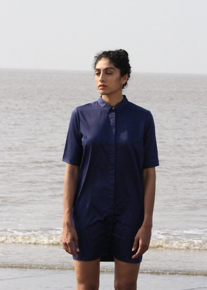 Shirt dress in Organic Cotton - Ethical made fashion - onlyethikal