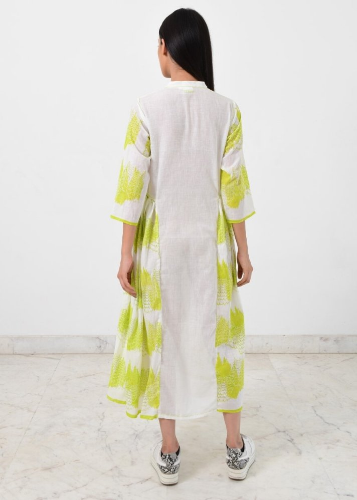 Ready to ship! Side pleated geo dress - Ethical made fashion - onlyethikal