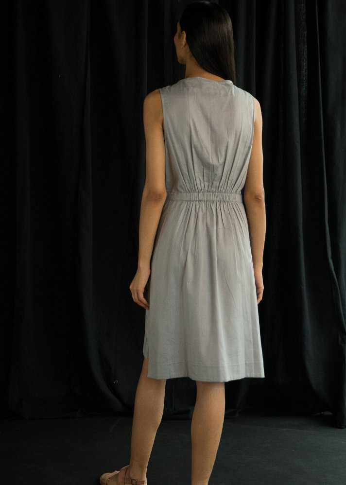 Sleevless dress - Ethical made fashion - onlyethikal