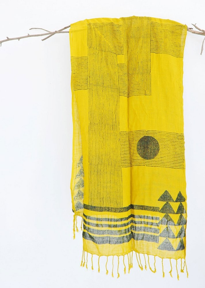 Stripe cross Scarf - Ethical made fashion - onlyethikal