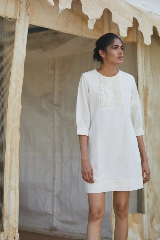 Syeira linen Dress - Ethical made fashion - onlyethikal
