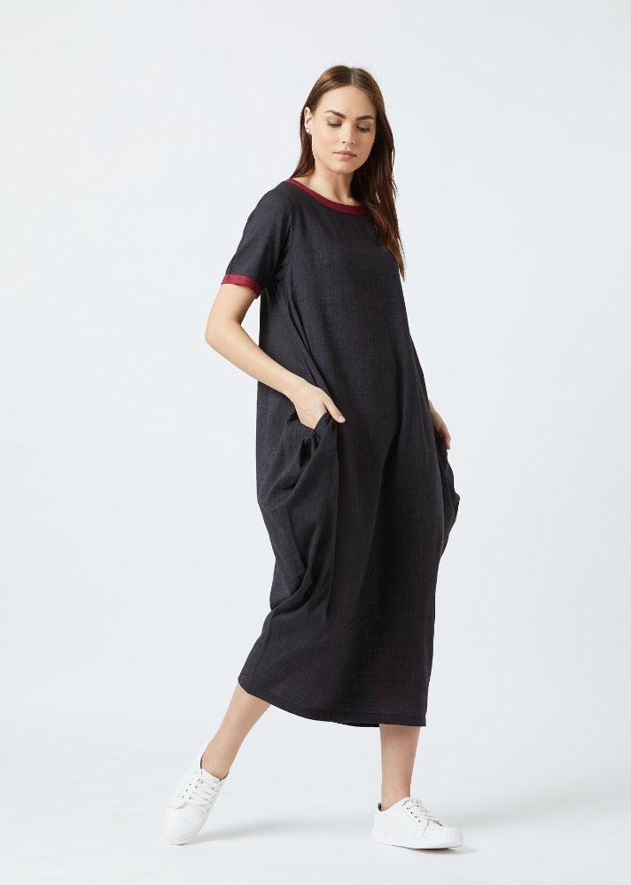 Ready to ship! Tent dress - Black - Ethical made fashion - onlyethikal