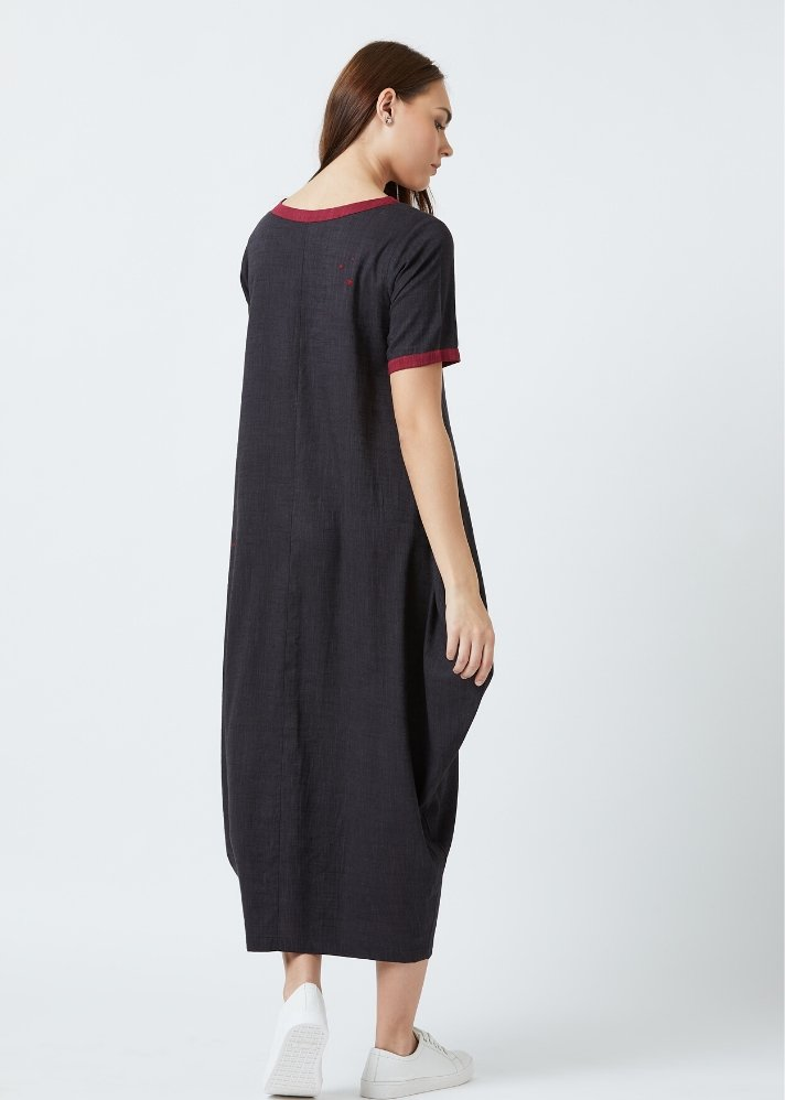 Tent dress - Black - Ethical made fashion - onlyethikal