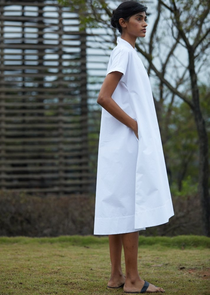 Tent dress in soft Cotton - Ethical made fashion - onlyethikal