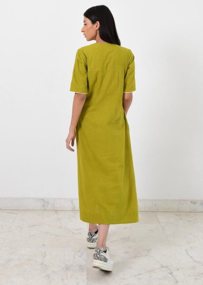 Ready to ship! V neck fire strap dress - Ethical made fashion - onlyethikal